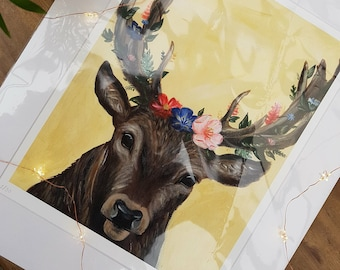 A3 Limited Edition Deer Print