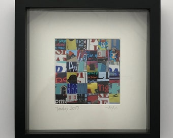 Original photographs of Tenby, assembled in a contemporary abstract mosaic collage