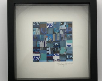 Original photographs of Tenby, assembled in a contemporary, abstract mosaic collage