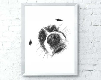 funny dog posters etsy