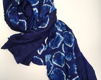 Wearable art - Silk Scarf - Khmer Design inspired by Nature