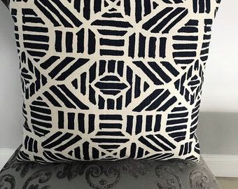 Navy Blue Geometric Pillow Covers (set of 4)