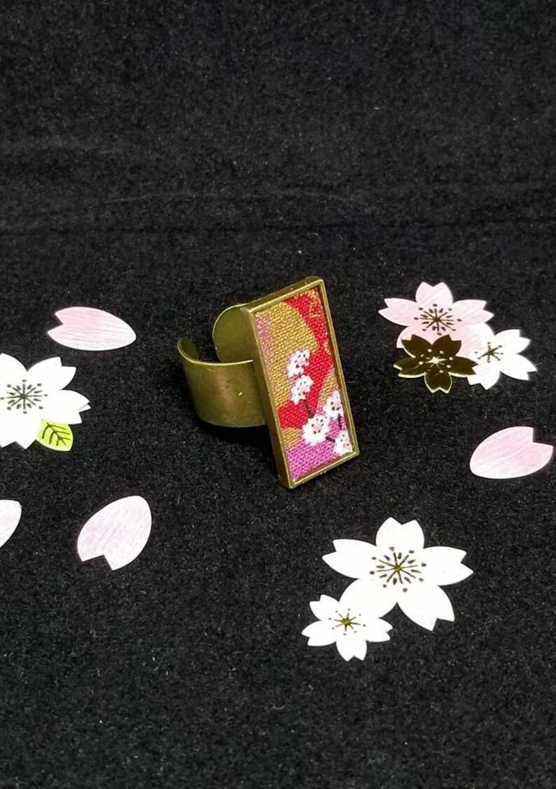 Minimalist jewelryGeometric jewelrybig ringjapanese pattern ringstatement ringKimonoBohomodern ring