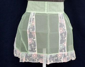 Vintage chiffon apron