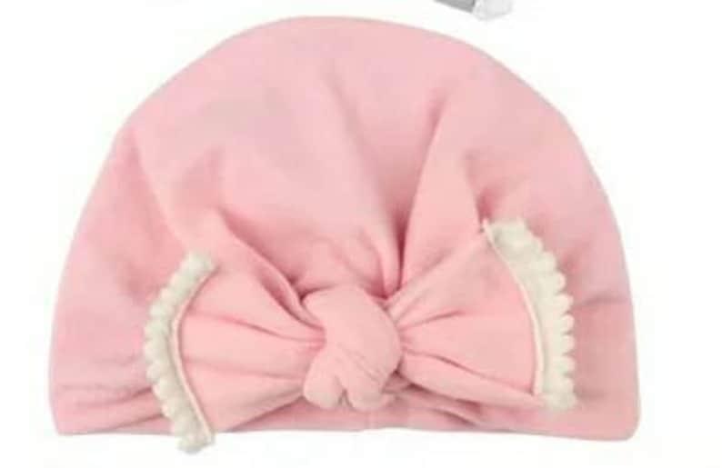 Baby Bow Lace Elastic Knotted Hat  Children Velvet Winter Hat Turban Cap Bohemia Head Wrap