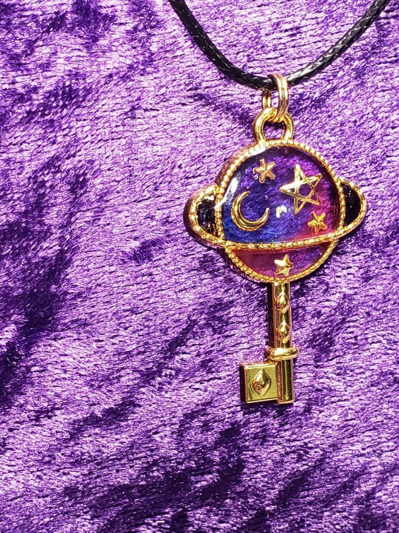 Planet Key Resin Necklace