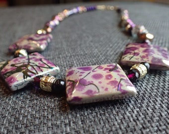 Purple Art Deco necklace