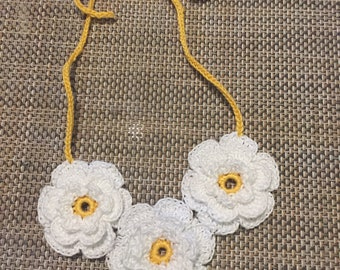 Girls' crochet necklace and earrings set