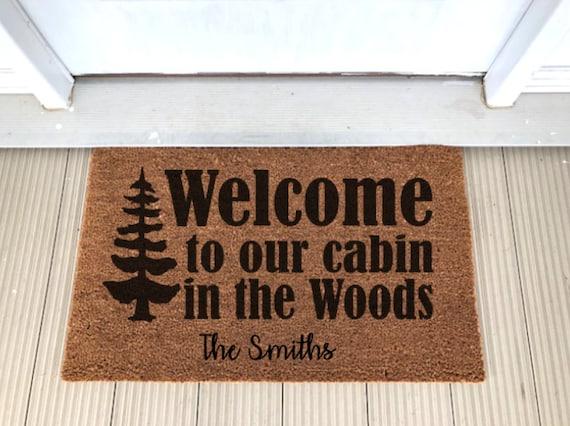 Ordinaire Coir Doormat Welcome To Our Cabin In The Woods Door Mat