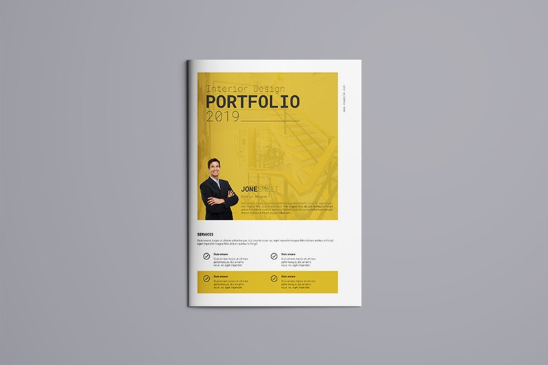 photo about Printable Portfolio known as Bifold Inner Designer Portfolio Template Printable Inner Style Brochure Template Instantaneous Down load - V07