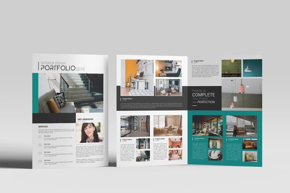 Interior Design Brochure Template | Interior Designer Portfolio Template,  Photoshop Template | Instant Download - V13