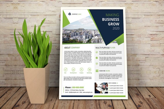 Printable Business Flyer Corporate Flyer Template Etsy