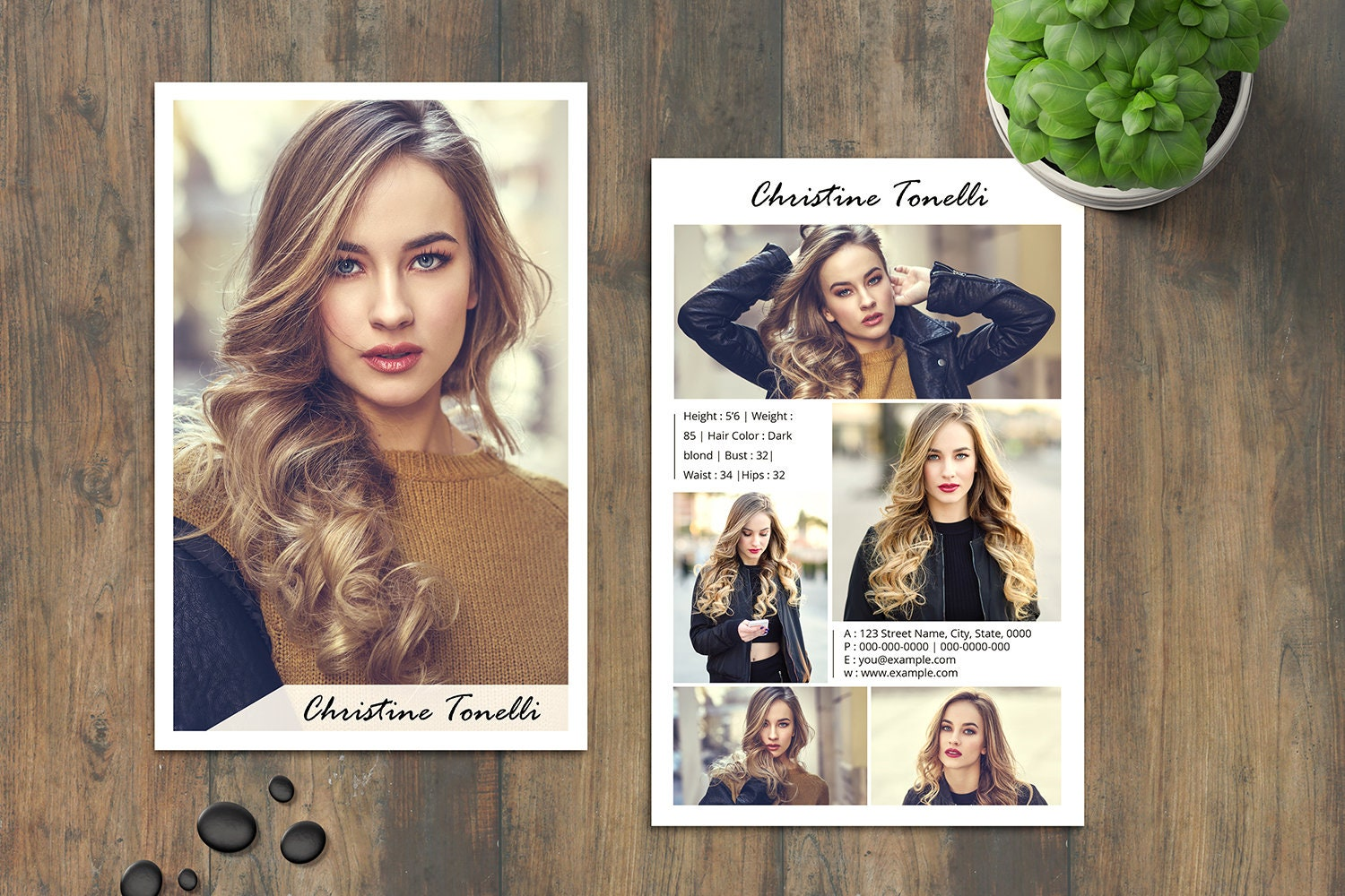 Model Comp Card  Ms Word , Photoshop & Elements Template Intended For Download Comp Card Template