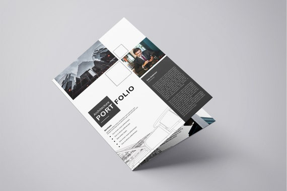 photograph about Printable Portfolio Template titled Printable Architectural Portfolio Brochure Template Architecture Brochure  Instantaneous Down load - V04