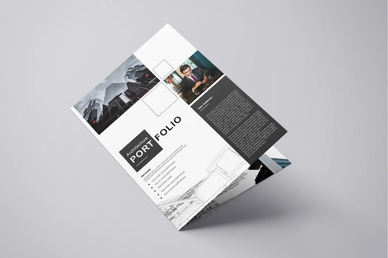 photograph regarding Printable Portfolio identified as Printable Architectural Portfolio Brochure Template Architecture Brochure  Quick Down load - V04