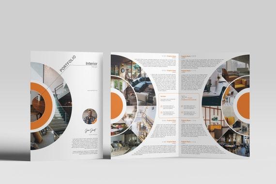 Printable Interior Design Brochure Template Interior Designer Portfolio Template Photoshop Template Instant Download V15