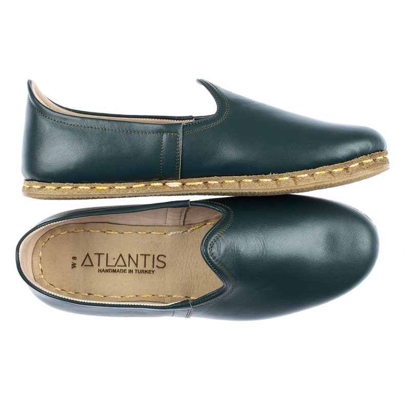Handmade Black and Brown Leather Turkish Yemeni Flat Women Shoes with Two Colors Slip Ons Loafers Travel Shoes Summer Shoes Labor Day Sales