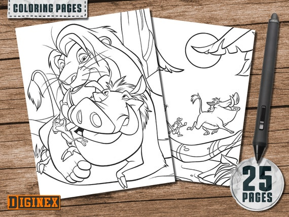 The Lion King coloring pages, Disney The Lion King colorings, The Lion King  birthday party games, The Lion King Printables, Simba