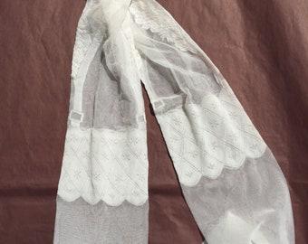 White patterneted evenings hosiery Weddings hosiery for womens Glamour bridal hosiery  Retro socks
