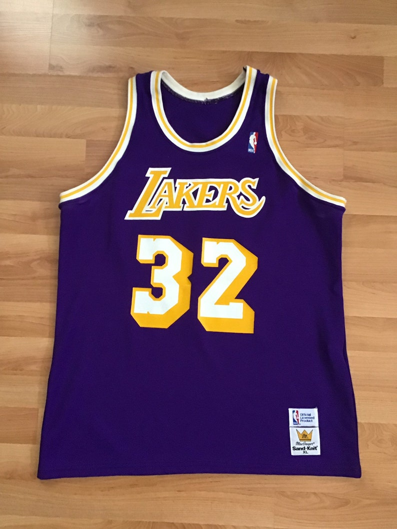 reputable site 8592c b0321 Old school Magic Johnson Lakers Jersey