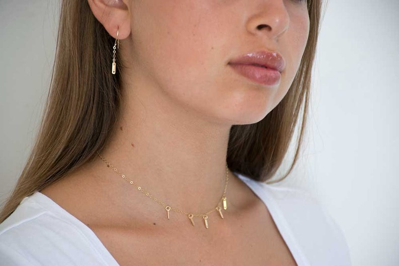 Set Andrea~Goldfilled jewelry Set Gold Necklaces With Earrings Layering Goldfilled Necklases Layering Set. Set Necklaces And Earrings