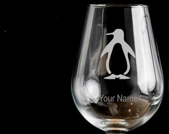 Drinking Glass Gift for Her.53 Penguin Birthday Gin Glass