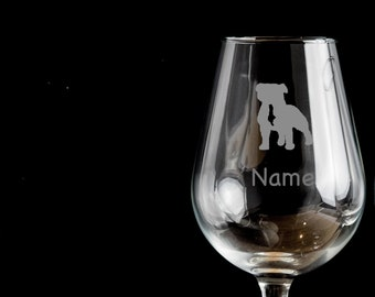 Boxer Dog Birthday Personalised Glass Gift.190 Balloon Gin Glass