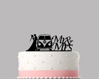 Personalised Acrylic VW Camper Van Birthday Cake Topper Decoration /& Keepsake