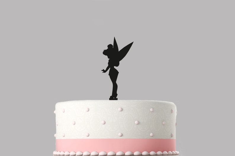 Tinkerbell Birthday Cake Topper Acrylic Happy Decoration 1