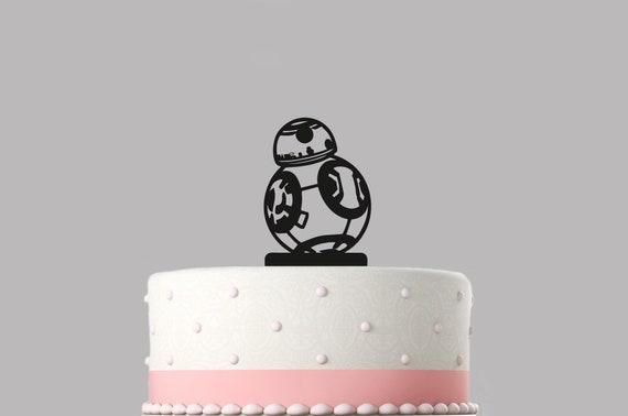 Tremendous Bb8 Star Wars Birthday Cake Topper Acrylic Happy Birthday Etsy Personalised Birthday Cards Fashionlily Jamesorg