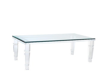 Beverly Hills Lucite Coffee Table Acrylic Table Lucite Table Various Sizes Available