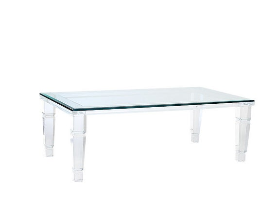 Lucite Coffee Table.Beverly Hills Lucite Coffee Table Acrylic Table Lucite Table Various Sizes Available