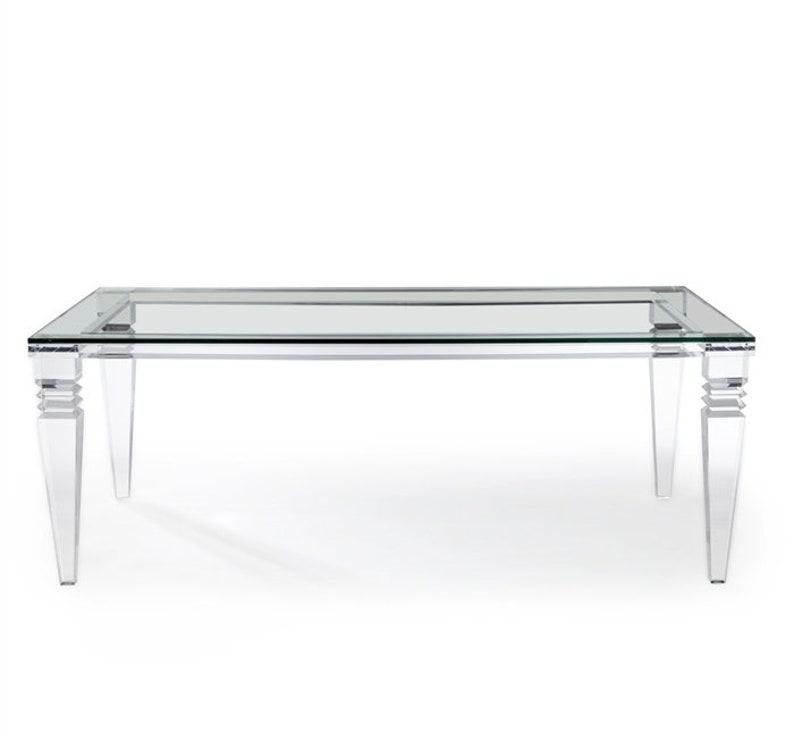 Portofino Dining Table - Acrylic Dining Table - Lucite Table - Various  Sizes Available