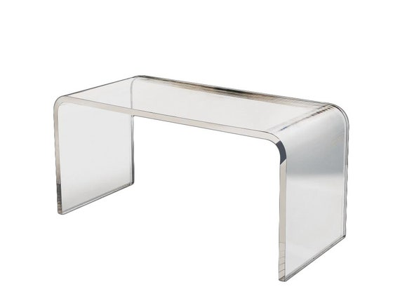 Lucite Coffee Table.Waterfall Lucite Coffee Table Acrylic Table Lucite Table Various Sizes Available