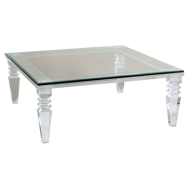 Lucite Coffee Table.Portofino Lucite Coffee Table Acrylic Table Lucite Table Various Sizes Available