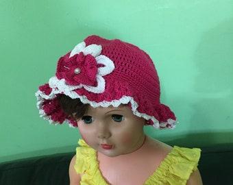 New girl hat crochet make