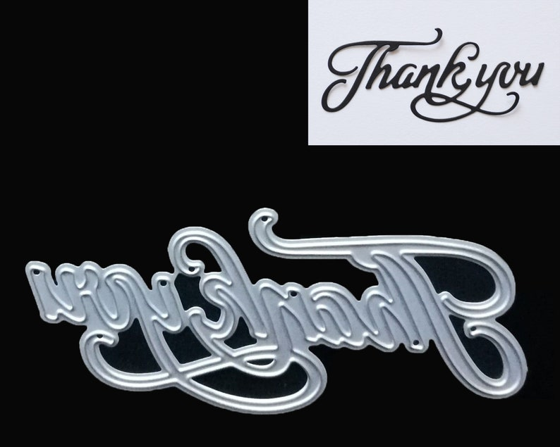 Greeting Words thank Metal Cutting Dies Stencil Scrapbook Paper Cards Craft UK