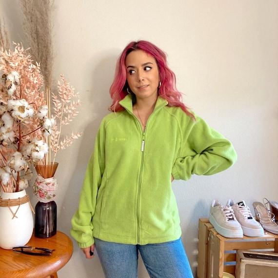 Vintage 1990s Columbia Fleece Lime Green Fleece - image 1