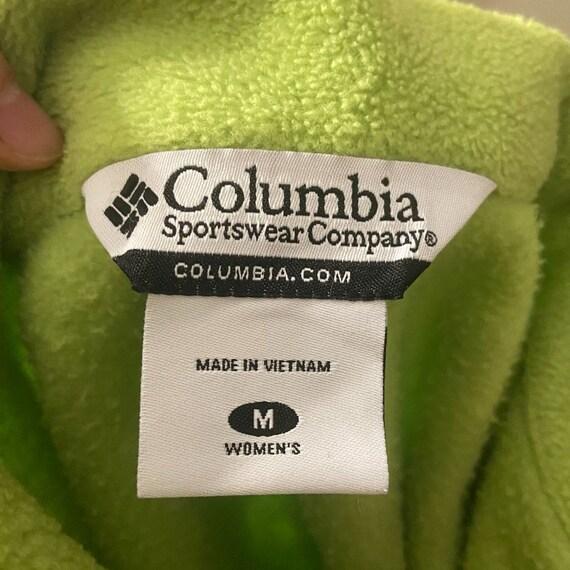 Vintage 1990s Columbia Fleece Lime Green Fleece - image 8