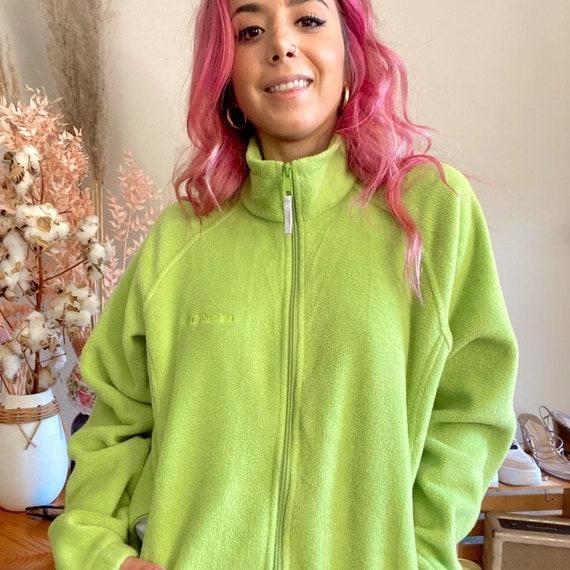 Vintage 1990s Columbia Fleece Lime Green Fleece - image 6