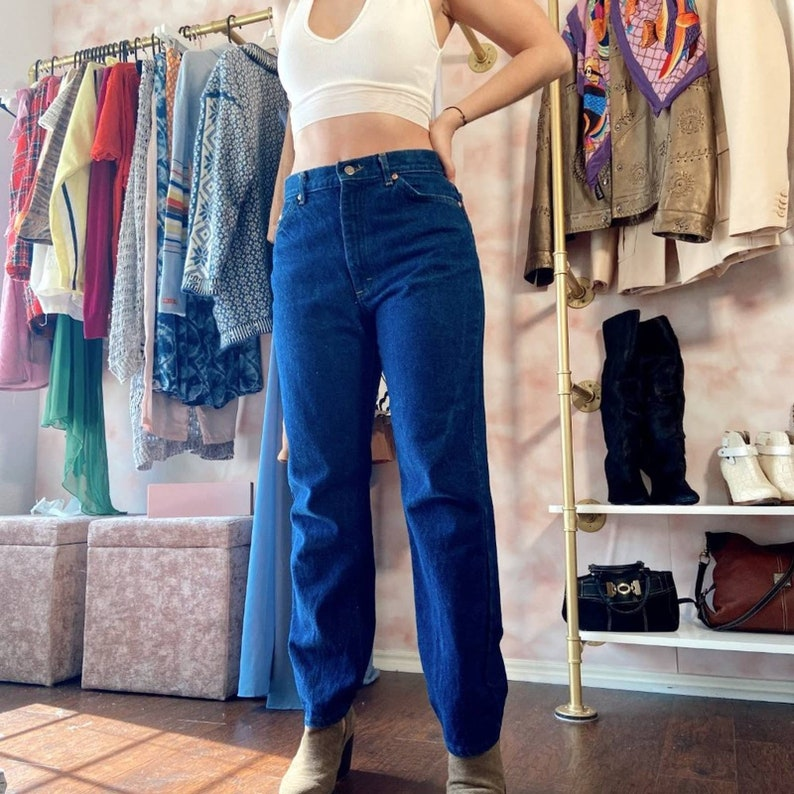 Vintage 90s Lee Dark Wash High Rise Straight Jeans