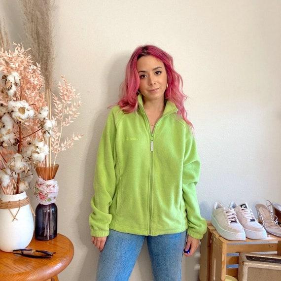 Vintage 1990s Columbia Fleece Lime Green Fleece - image 3