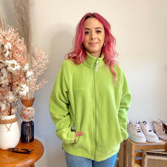 Vintage 1990s Columbia Fleece Lime Green Fleece - image 2