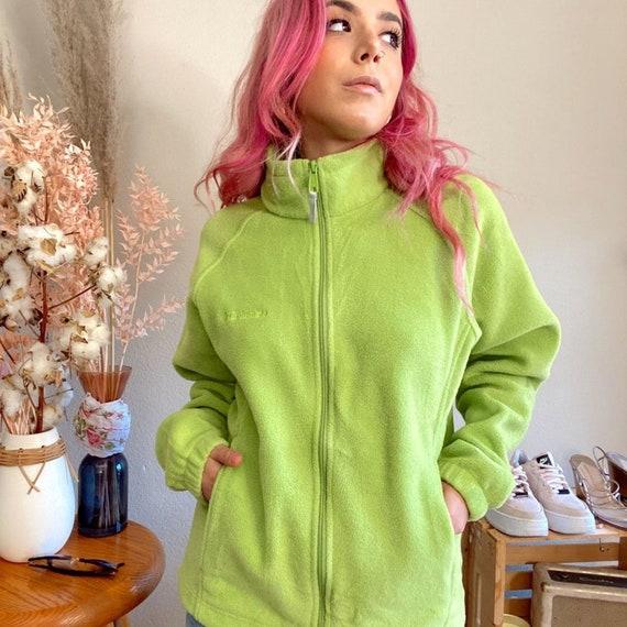 Vintage 1990s Columbia Fleece Lime Green Fleece - image 4