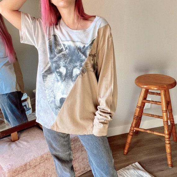 Custom Wolf Split Short/Longsleeve T-Shirt