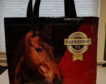 Horse feed bag tote