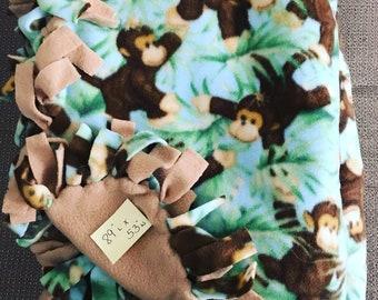 Monkey print Fleece blanket