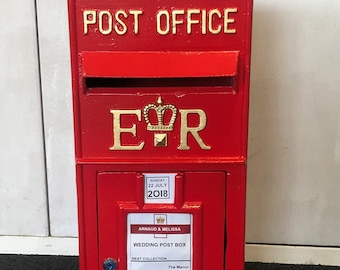 royal mail red post box hire replica wedding post box