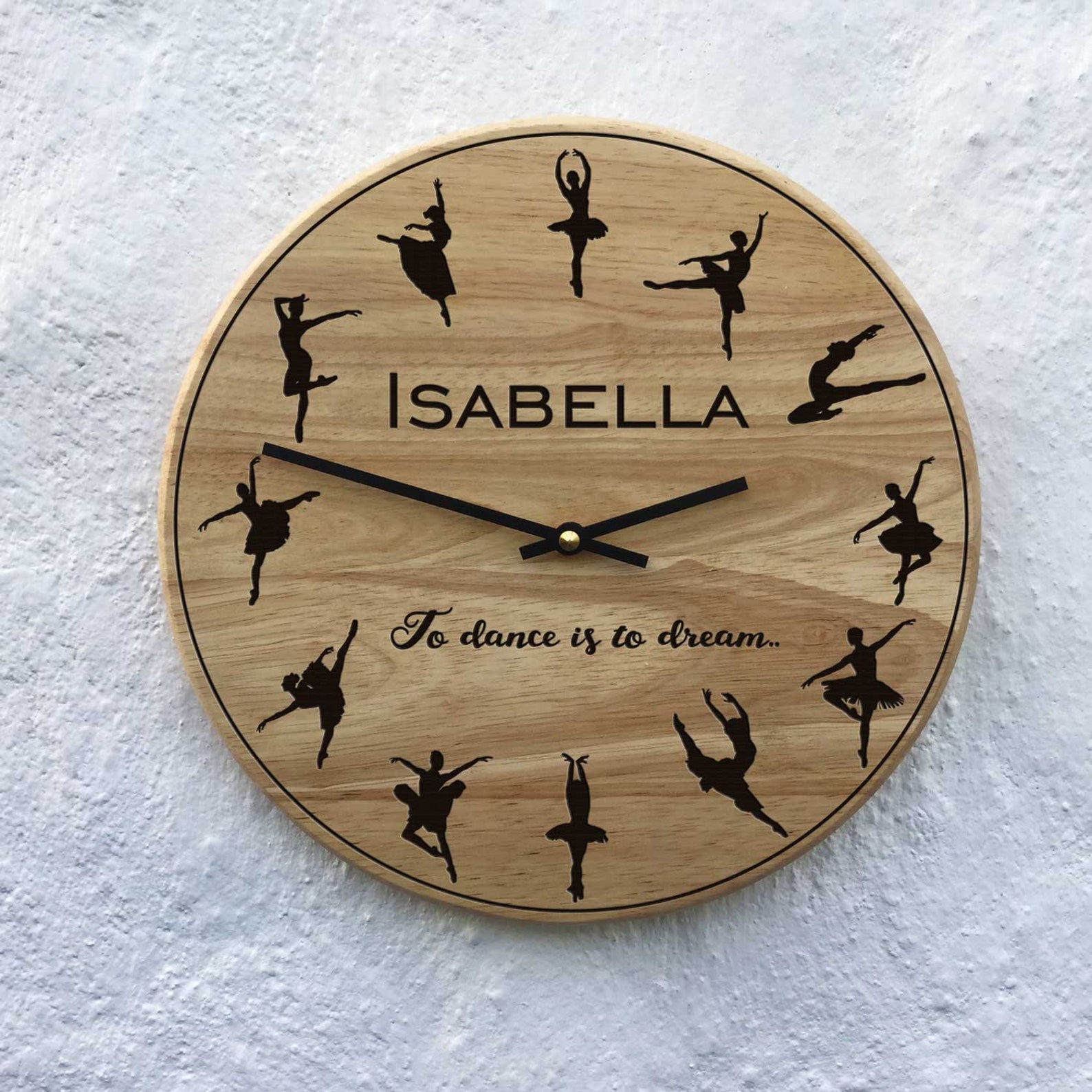 prima ballerina clock ballet gift ballerina present dance class customised ballet personalized dance teacher gift