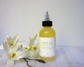 Deep Conditioning Hair Oil Treatment 4 oz. with Essential Oils, Organic, hair conditioner, hair growth, hair treatment, dry hair, thin hair
